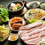 韓国家庭料理 済州 - 当店人気ナンバーワン!済州コース