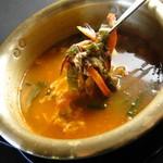 韓国家庭料理 済州 - ◇クッパ◇飯に肉と野菜などを煮込んだ熱いスープをかけて食べる料理。