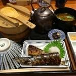 おひつ膳 田んぼ - 秋刀魚の定食