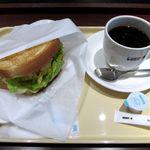 ドトールコーヒーショップ - 朝カフェセット(Aセット・ハムタマゴサラダ)