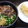 手打ちうどん ちよ志 - 料理写真:肉うどん(冷)と鳥天