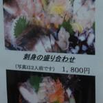 31789446 - 「刺身の盛り合わせ」のメニューです。