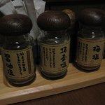 個室割烹日本海 - 各種塩