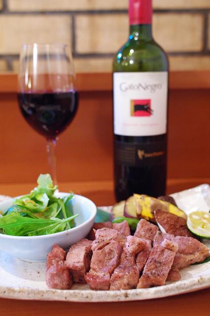 酒肴遊善 じねん - 遠州牛の炭焼き+ワイン!