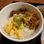 レストハウス・キング - 日替りBの三色丼【2014-10】