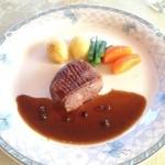 La・Blanche - 【メイン②】鴨肉の煮込み緑コショウソース添え