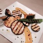 ミリオンダラー カフェ - 前菜3種のうちのひとつ(野菜のグリル)