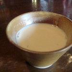 バグダッドカフェ - スープはコーンポタージュっぽかったですね