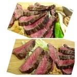 31809434 - イチボ肉は少し硬めで旨みが少ないかな。                       ランプの方が甘みもあり美味しいですね。
