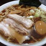 太麺屋 - 太麺普通盛り650円+味玉100円