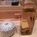 饗 くろ喜 - タンメンのラー油とお酢