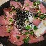 31819466 - ローストビーフ丼 850円+大盛り150円