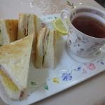 コーヒーショップかすみ草 - ハムトーストセット