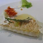 ラ・ビオグラフィ - 対馬沖 一本釣り 甘鯛 プレミアム・エッセンス2010 花キャベツ、檸檬、桜海老