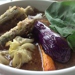 31826144 - スープスパイス(ポーク)セットに紫アスパラの天ぷらをトッピング