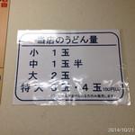 うどん村 - 2014.10.21(火)18時 釜揚げ麺のかけ中320円 追加で、かけ中320円*\(^o^)/* 美味しい出汁と、味のある麺が大好き!