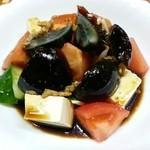 餃子菜館 万徳 - ピータン豆腐