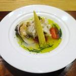 リストランテソットラルコ - スズキのソテー 蛤のスープ仕立て
