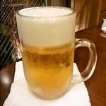 ひゃん - 生ビール(400円)