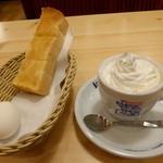 コメダ珈琲店 - ウインナコーヒー+無料モーニングセット