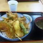 小矢部川サービスエリア 下り線 レストラン - 白エビ天丼