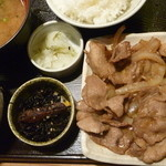 なかよし - 生姜焼き定食 税込830円