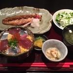 わびさび - サバの金山寺味噌焼きとミニ海鮮丼