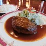 レストラン シマダ - 牛肉と豚肉のハンバーグ