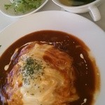 31843401 - オムハヤシランチ スープ、サラダ、ドリンク付