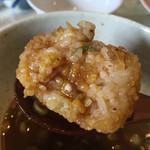 らーめん・つけ麺 よろしく - ライスボールの中にはカレーが入っています(^^)
