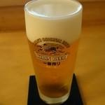 31850896 - ここのビールは泡がきめ細かくて美味しいです(^^)/