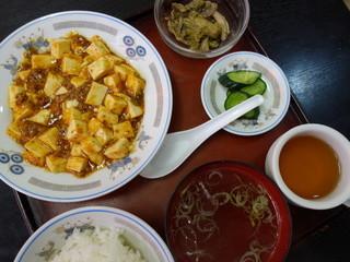 悟空林 - ランチ、麻婆豆腐定食(\500税込み)