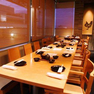 【完全個室のテーブル席】最大20名様までご案内可◎