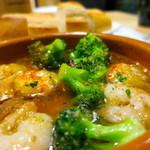 ベヂロカ - 海老とブロッコリーのガーリックオイル煮アップ