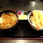 はちよう - 天丼セット(うどん付き):1130円