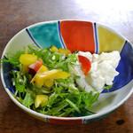 みづ乃 - カキフライに付いてきたサラダ