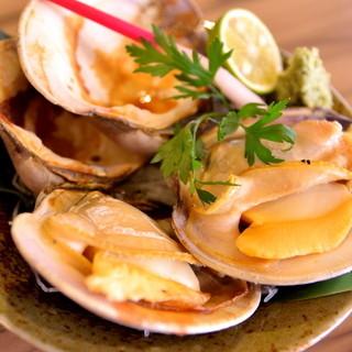 美味い焼き貝あります