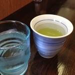 茂七 - お茶も美味しい。