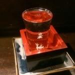 市川一茶庵 - お酒400円