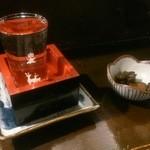 市川一茶庵 - お酒&お通し
