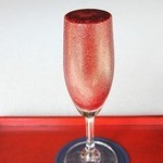 稲泉農園 cafe Orchard - ブルーベリー100%ジュース  500~800円  自家栽培の完熟果実を使っています。