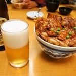 ぱんちょう - 豚丼「華」&「ビール」