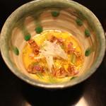 31867581 - 豆乳豆腐 穴子と出汁ジュレがけ (2014/10)