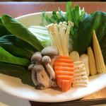 31870582 - 最初のお野菜盛り合わせ。