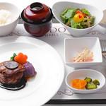 グリル アンドウ - ランチ フランス産 シャルレー種仔牛フィレ肉のロッシーニ トリュフ添え