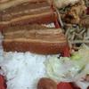 Uemabentoutempuraten - 料理写真:三枚肉弁当