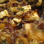 ママトコ with 絆ファクトリー - 新メニュー:すき焼き(牛すき煮)japanese stewed beef,tofu and white cabbage