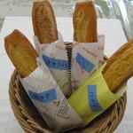 ママトコ with 絆ファクトリー - テイクアウト限定ドーナツ4種 4 flavors of doughnut to go(banana,sweet potato,caramel,apple-cinnamon)