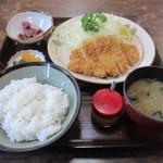 とんかつ太郎 - Aランチ とんかつ 600円