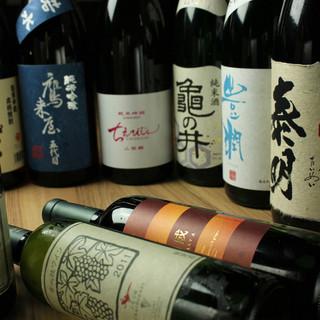 自慢の焼酎と日本酒◎